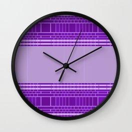 Plum Urban Geometric Wall Clock