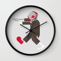 pennywise Wall Clocks featuring Zombie / Clown by Wise Idea