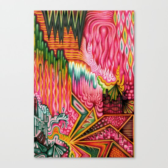 Sunk into a Candy Cave Canvas Print