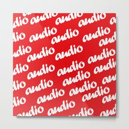 Red Audio Patern Metal Print