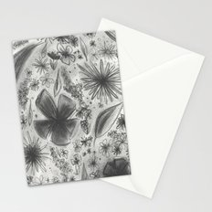 Floral Charcoal Sketch Stationery Cards