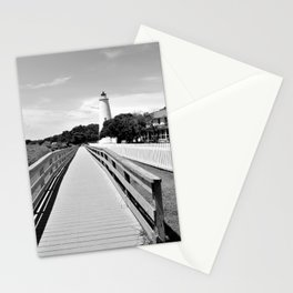 Ocracoke Island Lighthouse View Black and White Stationery Cards