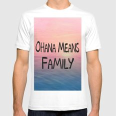 Ohana MEDIUM White Mens Fitted Tee