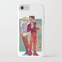 good omens iPhone & iPod Cases featuring Good Omens by Brizy Eckert
