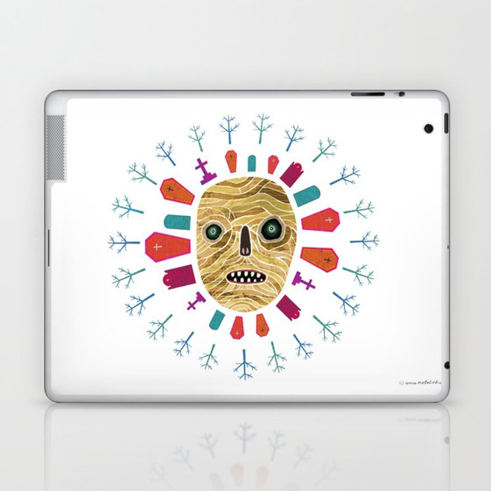 Halloween print: Mummy Laptop & iPad Skin