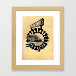 Baradero Train Station Framed Art Print