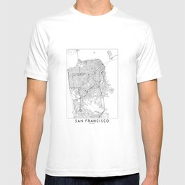 San Francisco White Map T-shirt
