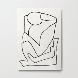 Abstract line art 2 Metal Print