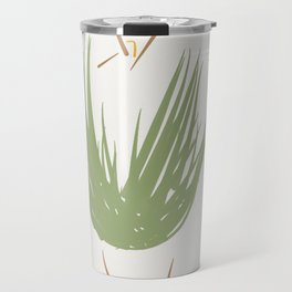 The green dress with the gray hat. Travel Mug