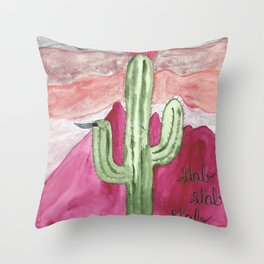 Stab Cactus or m7a Throw Pillow
