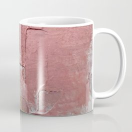 Darling: a minimal, abstract mixed-media piece in pink, white, and gold by Alyssa Hamilton Art Coffee Mug
