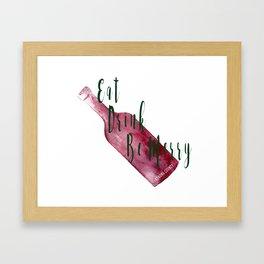 Eat Drink Be Merry Framed Art Print