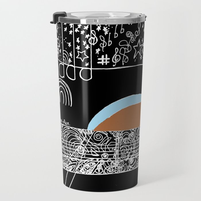 Guitar & stars Travel Mug