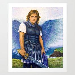 Saint Michael the Archangel Michael Art Print