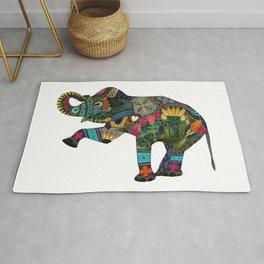 asian elephant white Rug