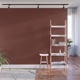 Sherwin Williams Trending Colors of 2019 Rustic Red SW 7593 Solid Color Wall Mural