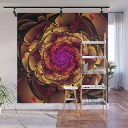 Beautiful Lantana Camara Sunrise Fractal Flowers Wall Mural