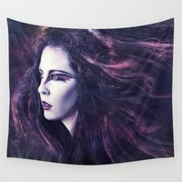 storm Wall Tapestries featuring Storm by Spoken in Red