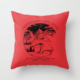 Professional Food Eater Throw Pillow