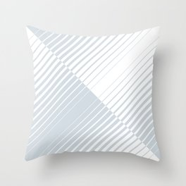 gradient stripes triangles in ice gray and white Throw Pillow