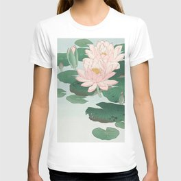 Water Lilies - Japanese vintage woodblock print T-shirt