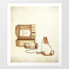NES Cat  Art Print