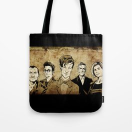 Doctor Who - Nine, Ten, Eleven, Twelve, and Thirteen Tote Bag