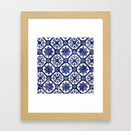 Portuguese Tile Framed Art Print