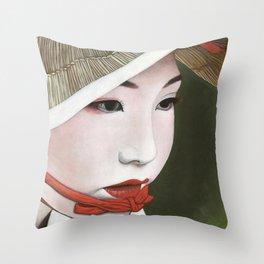 Geisha Throw Pillow