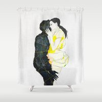 kiss Shower Curtains featuring KISS by SEVENTRAPS