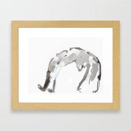 Bending Framed Art Print