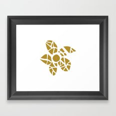 Mosaic Flower Framed Art Print