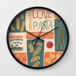 I love pasta Wall Clock