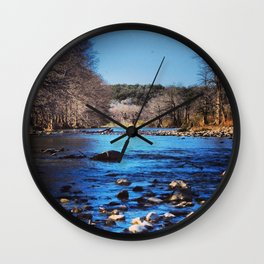 Pedernales Flowing Wall Clock