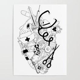 Heart of a Nurse Poster
