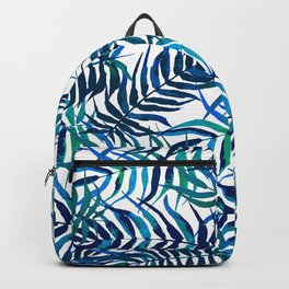 Watercolor floral pattern with palm leaves Backpack