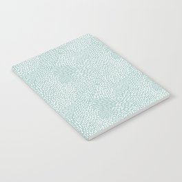 Abstract Brush Strokes, Sea Foam Notebook