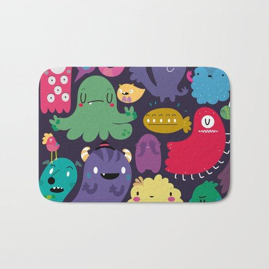 Colorful creatures Bath Mat