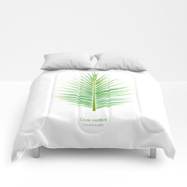 Tropical Vibes Collection: Cocos nucifera Comforters