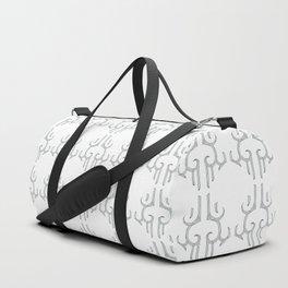 MAD KAUAE White Print Duffle Bag