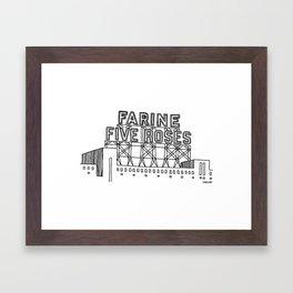Montréal - Farine Five Roses - Black Framed Art Print