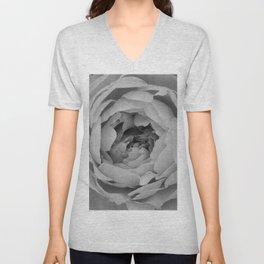 Blak and white rose Unisex V-Neck
