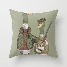 Hunting Ducks Throw Pillow