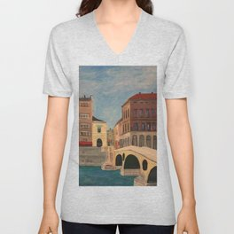 The Latin Bridge in Sarajevo, Bosnia Unisex V-Neck