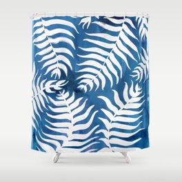 Caribean Blue Palms Shower Curtain
