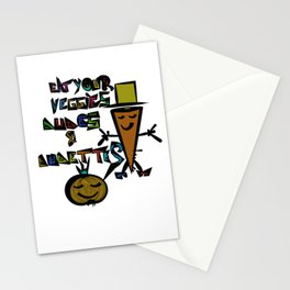Eat your Veggies - Mr. Onion & Mr. Carrot Stationery Cards