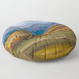 Fall in the Rockies Floor Pillow