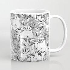 just goats black white Mug