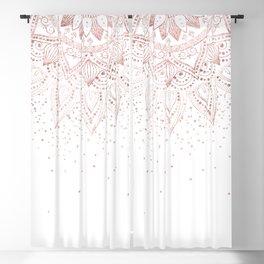 Elegant rose gold mandala confetti design Blackout Curtain