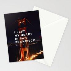 I left my heart... Stationery Cards